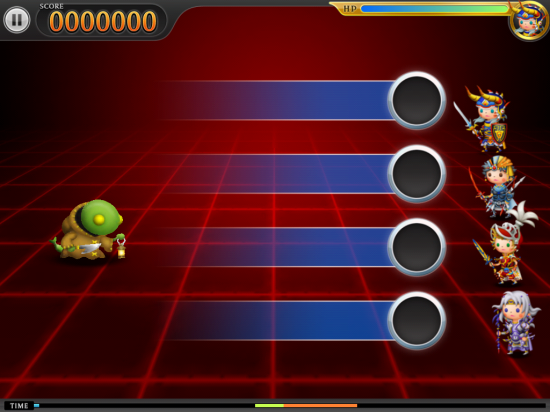 THEATRHYTHM FINAL FANTASYプレイ画面
