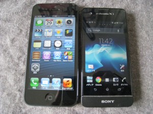iPhone5とXperiaSX