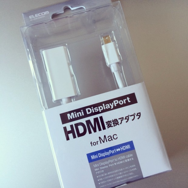 Mini DisplayPort HDMI変換アダプタfor Mac